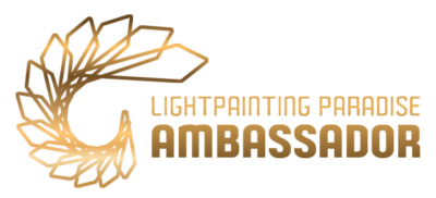 light painting paradise embajador logo