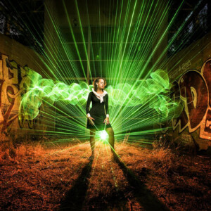 Fiber Optic Square Light Painting paradise